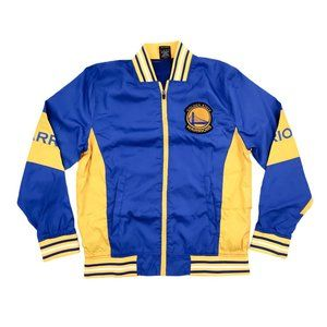 UNK Warm Up Jacket Men's Large Blue Yellow Zip Up